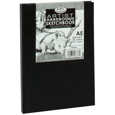 Royal Langnickel black sketch book - A5, 80 listov - RHSB-A5